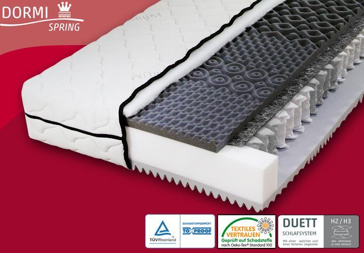taschenfederkern matratze dormispring t190 7 zonen. Black Bedroom Furniture Sets. Home Design Ideas