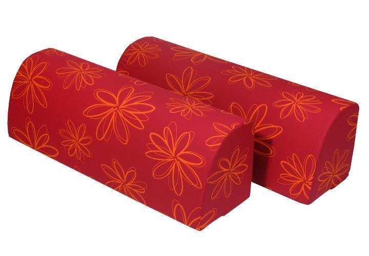 r ckenkissen chilly umbaukissen kissen 2er set in rot und orange ebay. Black Bedroom Furniture Sets. Home Design Ideas