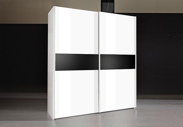 schwebet renschrank anima kleiderschrank in wei schwarz neu b 170 ebay. Black Bedroom Furniture Sets. Home Design Ideas