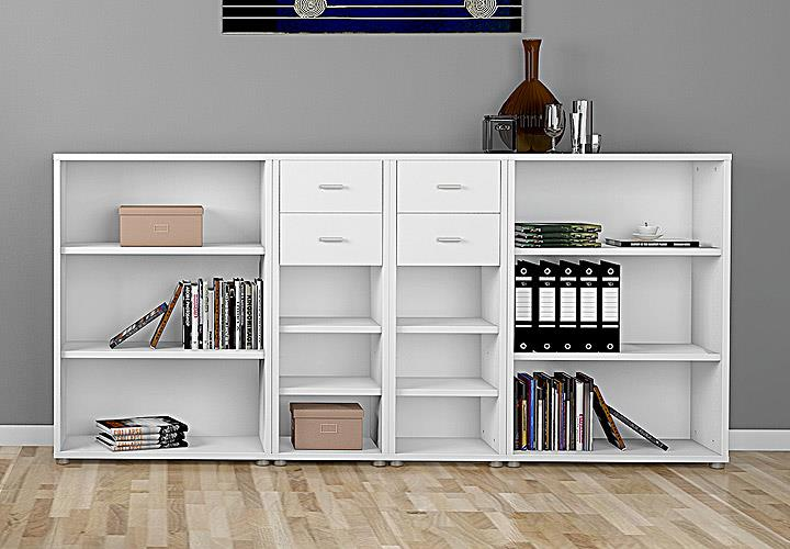 regalkombi 2 bocca b cherregal regal sideboard in wei. Black Bedroom Furniture Sets. Home Design Ideas
