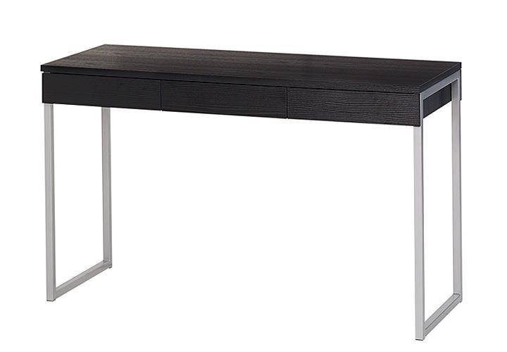 Schreibtisch FUNCTION PLUS Esche schwarz mit 3 Schubkästen