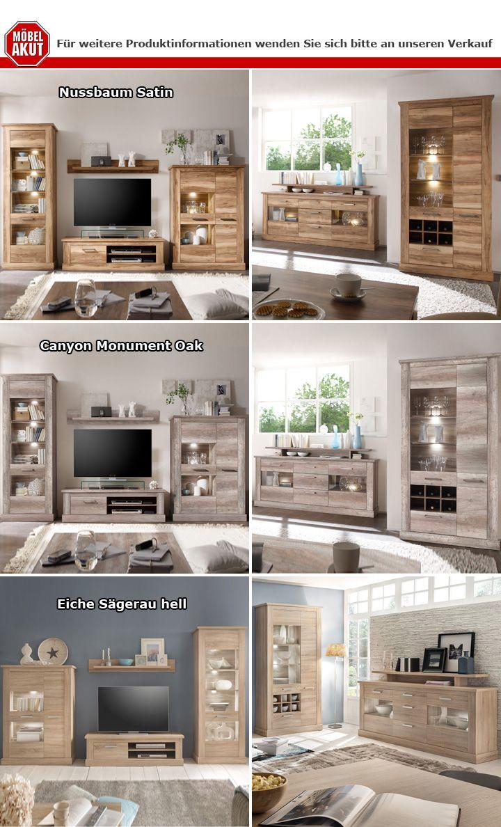 sideboard montreal anrichte in nussbaum satin mit aufsatz. Black Bedroom Furniture Sets. Home Design Ideas