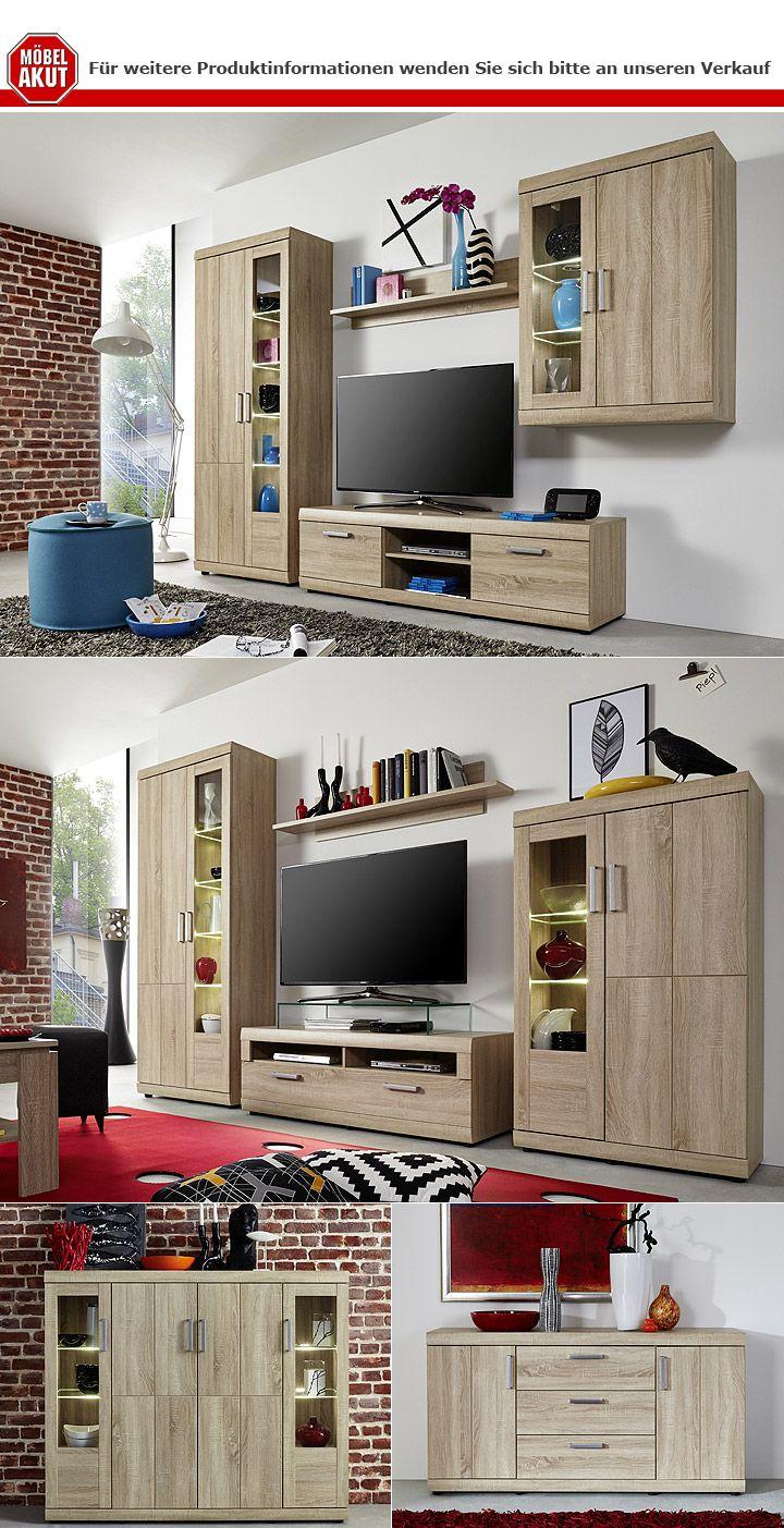 sideboard forai eiche s gerau hell 2 t ren 3 schubk sten. Black Bedroom Furniture Sets. Home Design Ideas