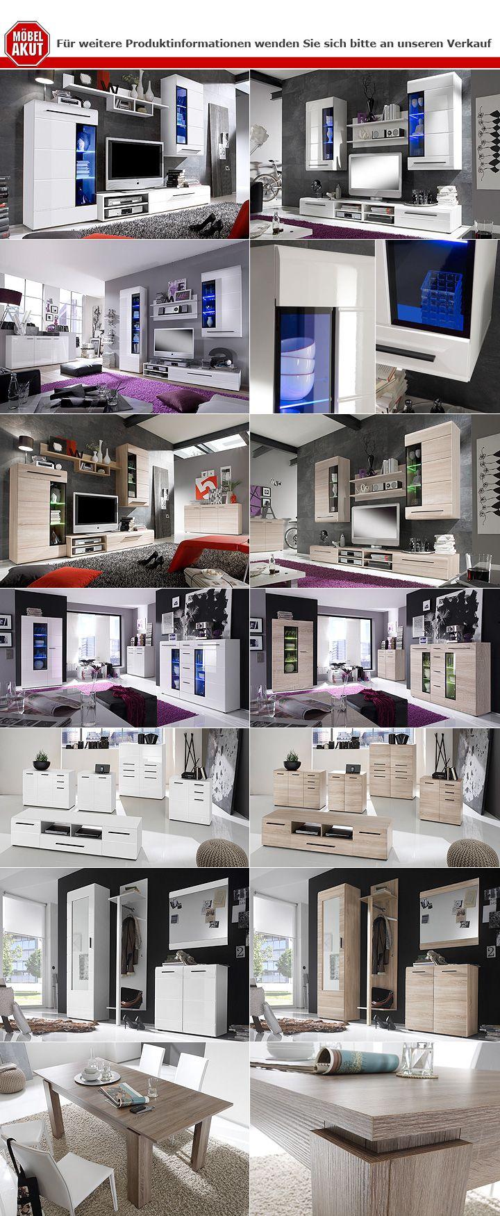 kommode iii anoma sideboard sonoma eiche s gerau dunkel braun hochglanz ebay. Black Bedroom Furniture Sets. Home Design Ideas