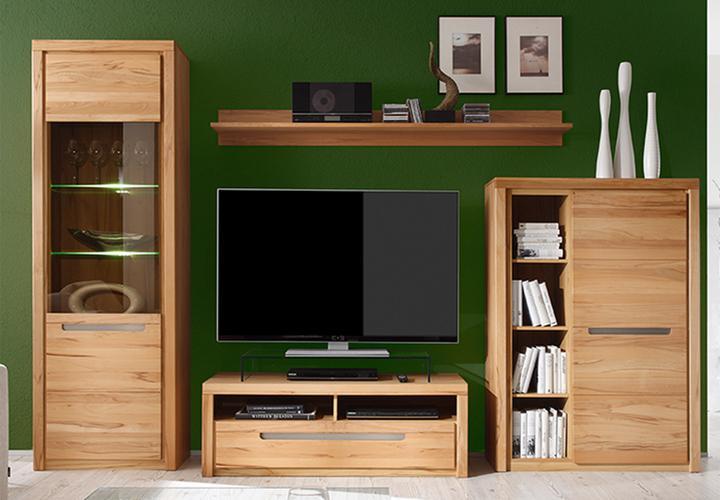 vitrine zino kern buche massiv lamellen inkl beleuchtung. Black Bedroom Furniture Sets. Home Design Ideas