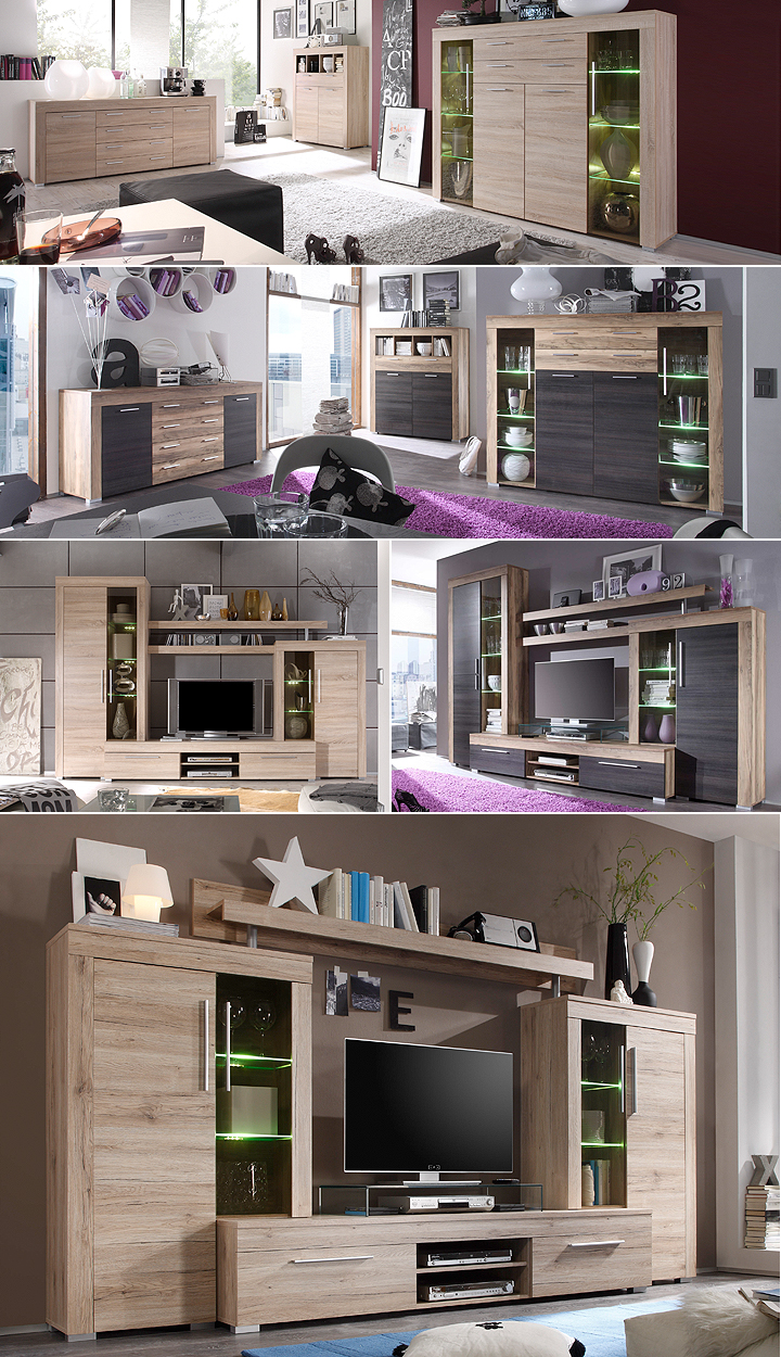 sideboard boom kommode wohnzimmer schrank in sonoma eiche s gerau hell ebay. Black Bedroom Furniture Sets. Home Design Ideas