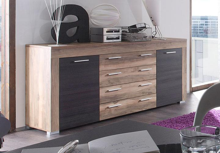 sideboard boom nussbaum satin braun touchwood. Black Bedroom Furniture Sets. Home Design Ideas