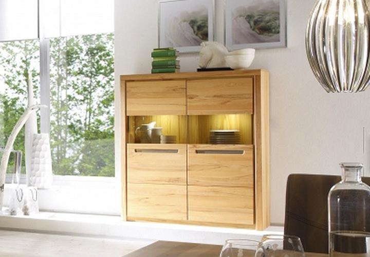 stauraum vitrine zino kern buche massiv lamellen inkl led beleuchtung. Black Bedroom Furniture Sets. Home Design Ideas