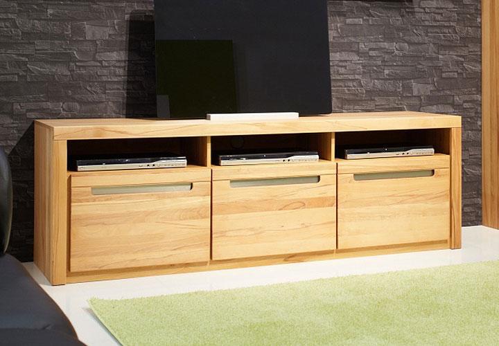 tv board gladia lowboard tv regal kern buche massiv mit lamellen ebay. Black Bedroom Furniture Sets. Home Design Ideas