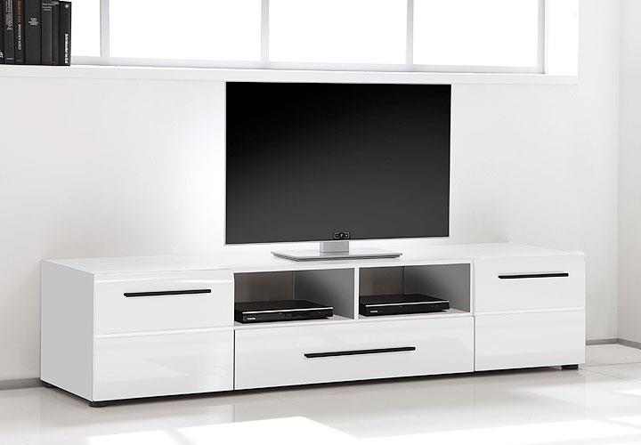 tv board skin lowboard tv unterschrank in wei hochglanz. Black Bedroom Furniture Sets. Home Design Ideas