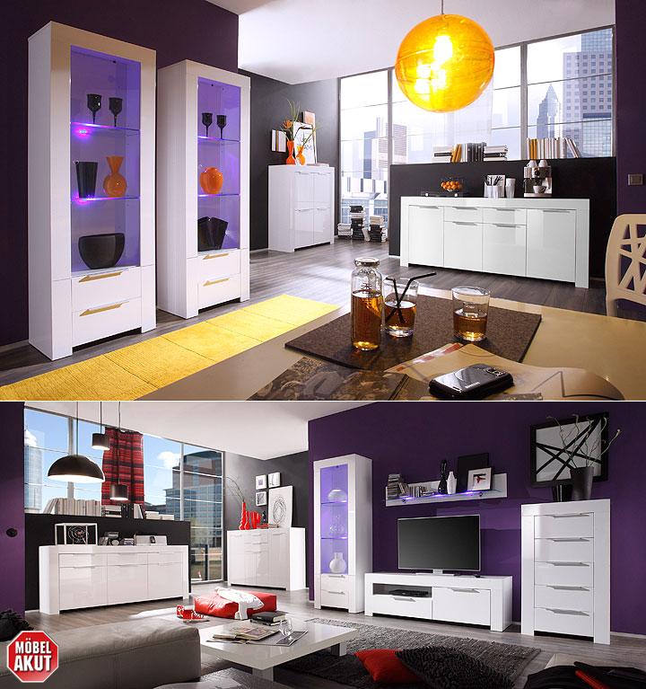 wandboard mikado wandregal regal cd regal in wei lack mit glasablage led ebay. Black Bedroom Furniture Sets. Home Design Ideas
