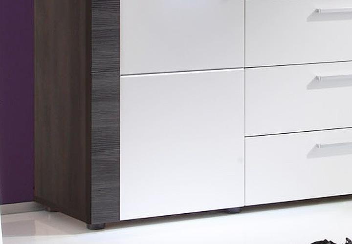 sideboard xpress esche grau wei inkl beleuchtung. Black Bedroom Furniture Sets. Home Design Ideas