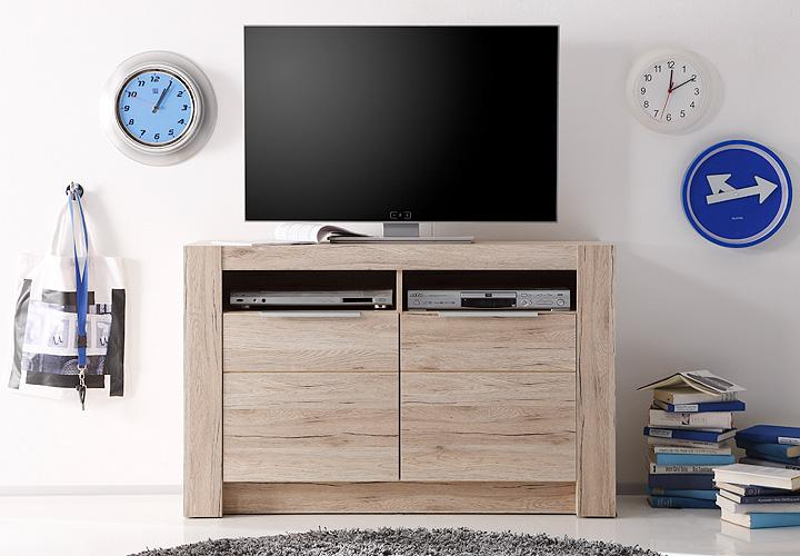tv kommode cougar san remo eiche hell. Black Bedroom Furniture Sets. Home Design Ideas