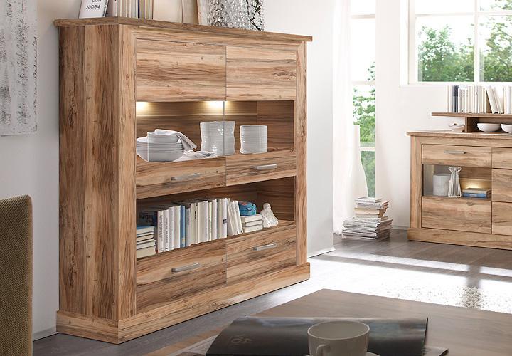 highboard 2 montreal nussbaum satin. Black Bedroom Furniture Sets. Home Design Ideas