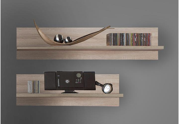 wandboard 2er set kentucky wandregal regal eiche s gerau ebay. Black Bedroom Furniture Sets. Home Design Ideas
