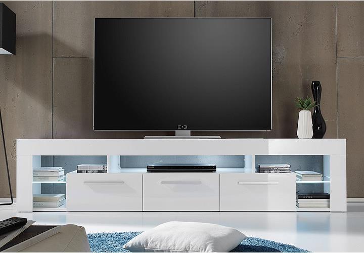 Lowboard SCORE Kommode TV Board in weiß hochglanz 200 cm -> Lowboard Weiß Ikea