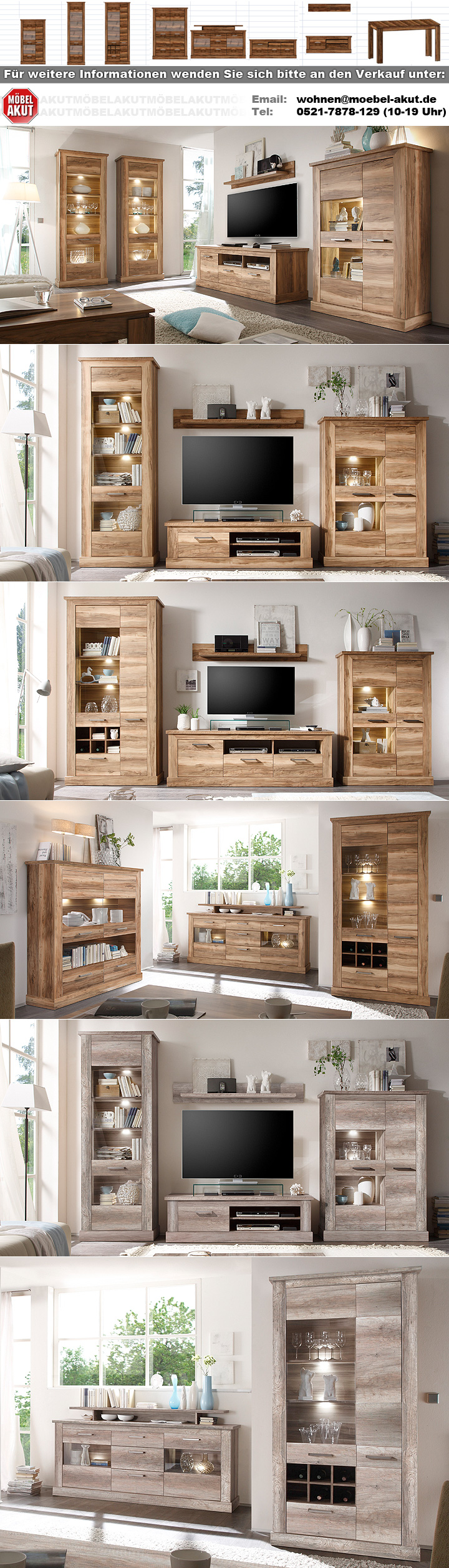 tv board 2 montreal lowboard tv unterteil in nussbaum satin. Black Bedroom Furniture Sets. Home Design Ideas