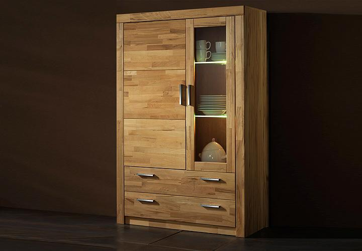 vitrine i berlin schrank in kernbuche teilmassiv ge lt. Black Bedroom Furniture Sets. Home Design Ideas