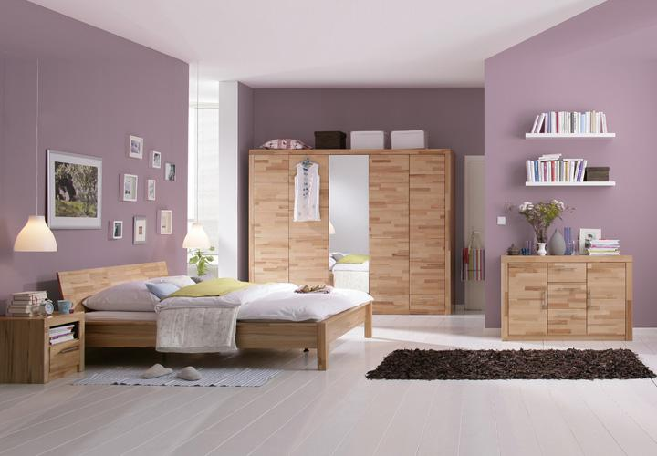 bett berlin doppelbett in kernbuche massiv 180x200 cm. Black Bedroom Furniture Sets. Home Design Ideas