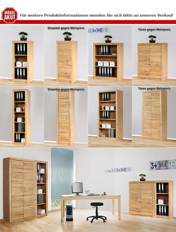 aktenregal 3 4600 regal aktenschrank wildeiche teilmassiv. Black Bedroom Furniture Sets. Home Design Ideas