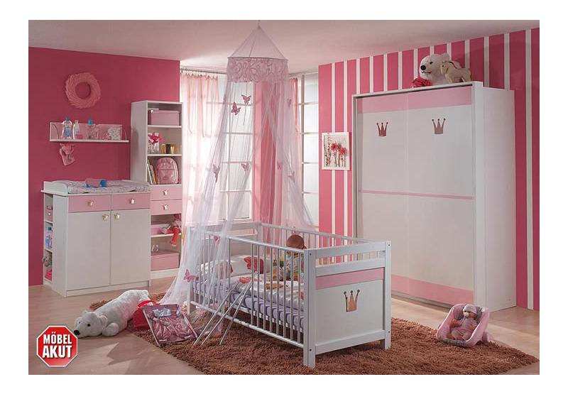 babyzimmer princess alpin wei rose neu ovp ebay. Black Bedroom Furniture Sets. Home Design Ideas