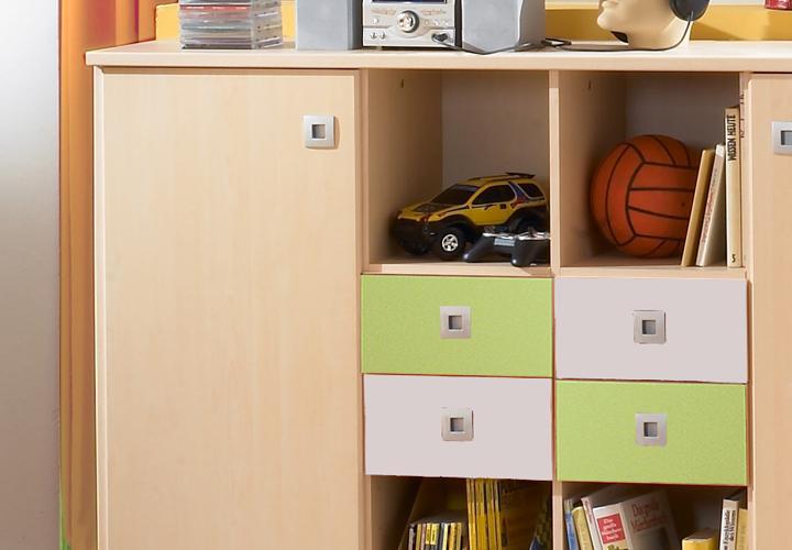 sunny sideboard gr n ahorn gr n wei. Black Bedroom Furniture Sets. Home Design Ideas
