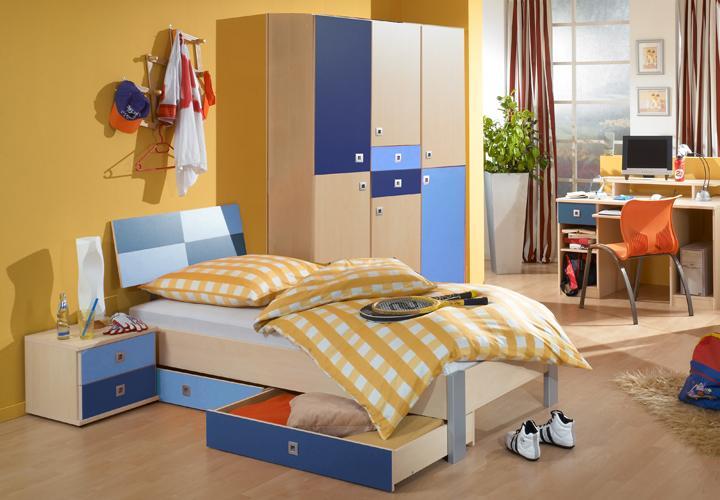jugendzimmer sunny 3 teilig ahorn iceblau marineblau. Black Bedroom Furniture Sets. Home Design Ideas