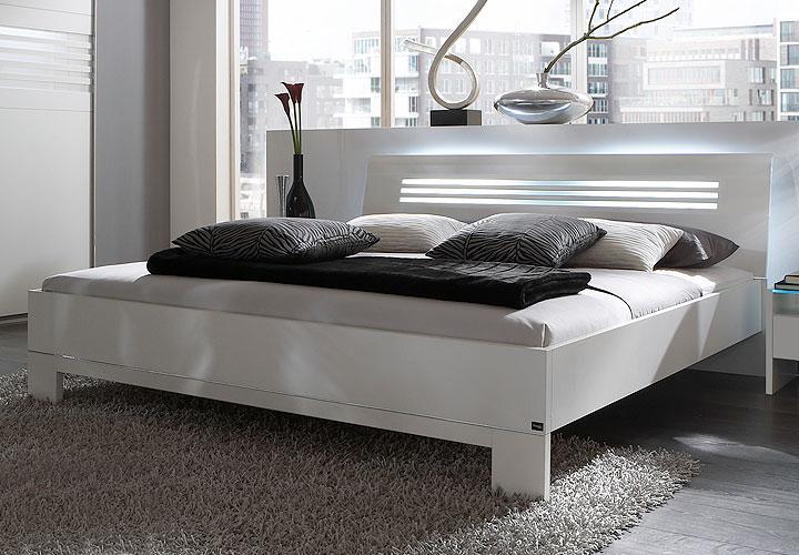 bett somia futonbett in wei milchglas neu b 180x200 ebay. Black Bedroom Furniture Sets. Home Design Ideas