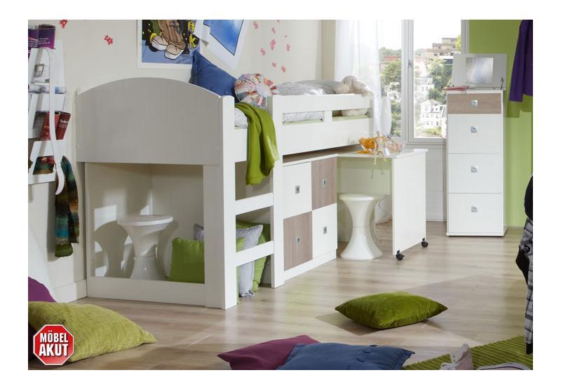 hochbett sando bett wei sonoma eiche s gerau. Black Bedroom Furniture Sets. Home Design Ideas
