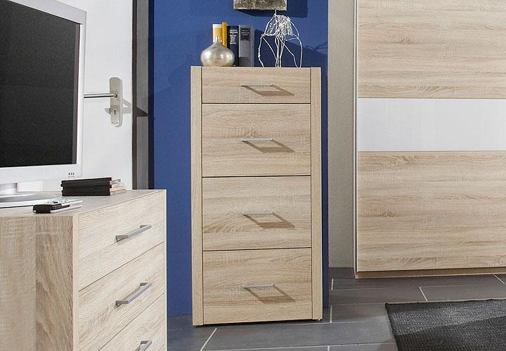 kommode malik hochkommode highboard in sonoma eiche s gerau. Black Bedroom Furniture Sets. Home Design Ideas