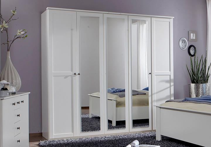 kleiderschrank chalet alpinwei mit spiegel 225 cm. Black Bedroom Furniture Sets. Home Design Ideas