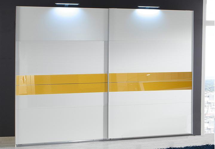 schwebet renschrank acapulco alpinwei glas gelb b 225 cm. Black Bedroom Furniture Sets. Home Design Ideas