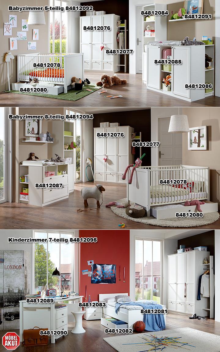Wandboard 2 Filou Kinderzimmer Babyzimmer in Alpinweiß