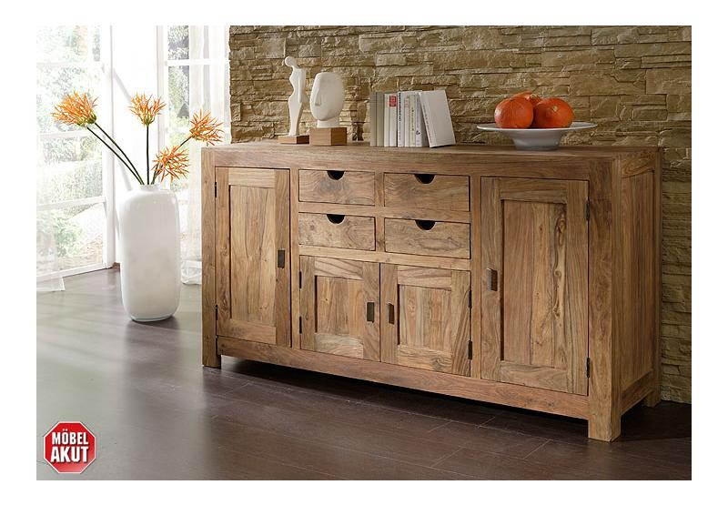 sideboard yoga sheesham massiv landhausstil von wolf m bel. Black Bedroom Furniture Sets. Home Design Ideas