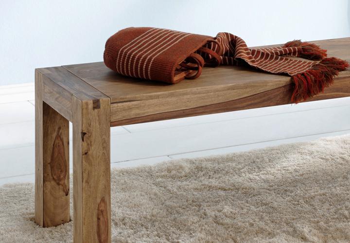 bank 140cm yoga sheesham massiv landhausstil von wolf m bel. Black Bedroom Furniture Sets. Home Design Ideas