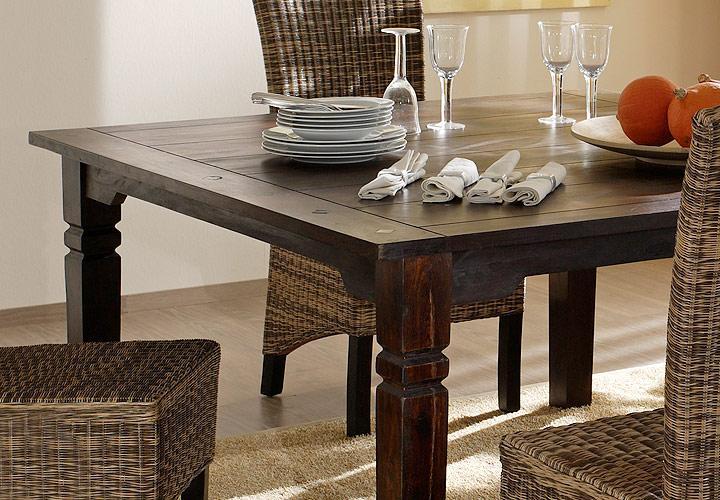 esstisch 140x140 bombay massivholz sheesham von wolf m bel. Black Bedroom Furniture Sets. Home Design Ideas