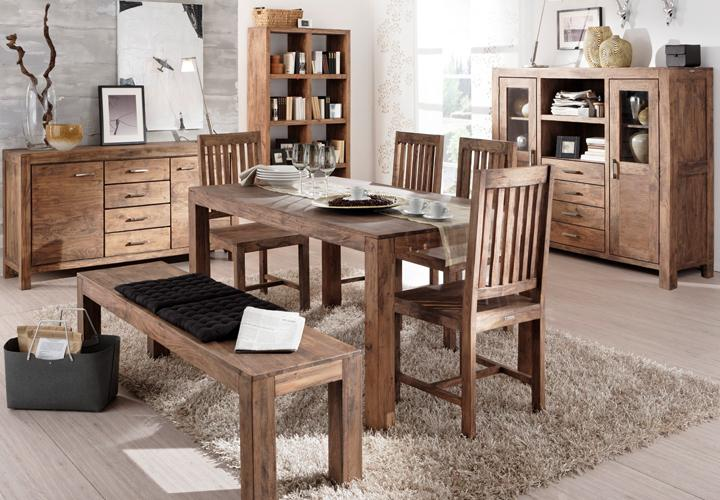 esstisch guru 6609 180x90 akazie massiv stone wolf m bel. Black Bedroom Furniture Sets. Home Design Ideas