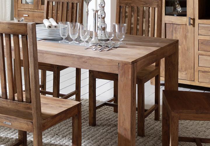esstisch guru 6630 140x90 akazie massiv stone wolf m bel. Black Bedroom Furniture Sets. Home Design Ideas
