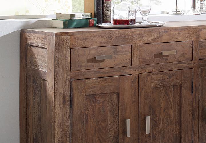 sideboard kommode guru 6629 akazie massiv stone wolf m bel. Black Bedroom Furniture Sets. Home Design Ideas