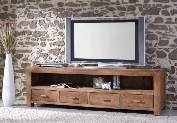 tv board longboard 6647 akazie massiv stone von wolf m bel. Black Bedroom Furniture Sets. Home Design Ideas