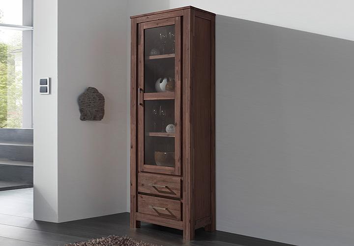 canaria vitrine akazie massiv smoke. Black Bedroom Furniture Sets. Home Design Ideas