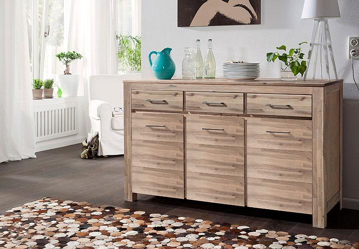 canaria sideboard akazie massiv sand. Black Bedroom Furniture Sets. Home Design Ideas