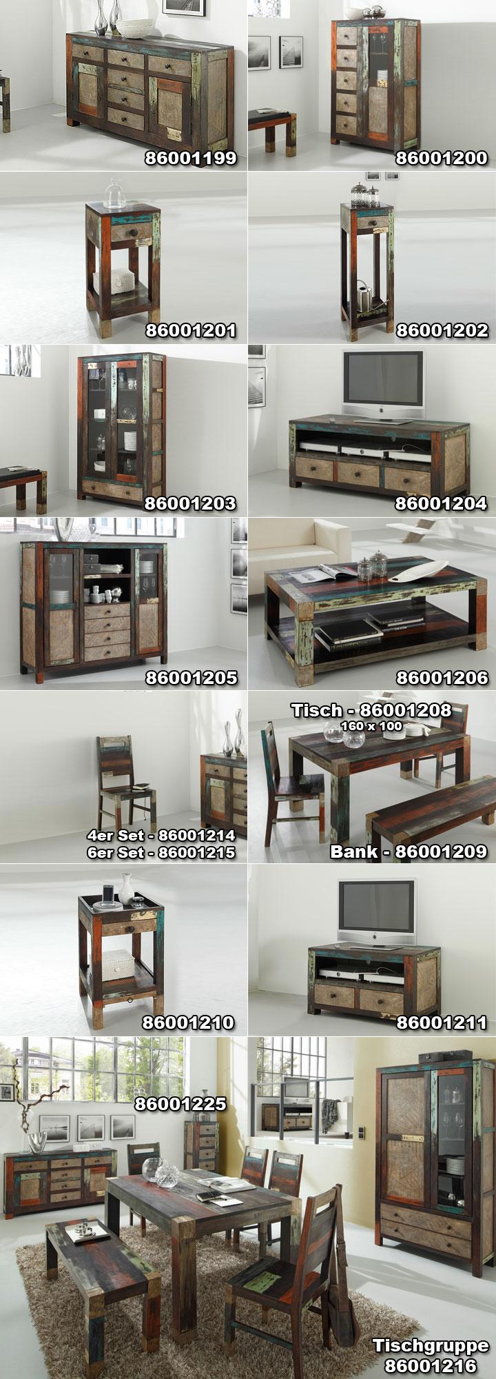 esstisch daro tisch in mango massiv vintage used look. Black Bedroom Furniture Sets. Home Design Ideas