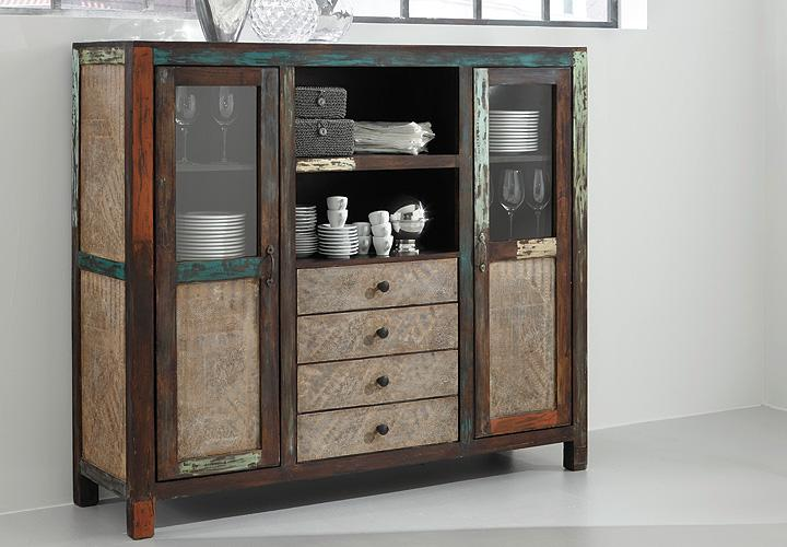 highboard goa von wolf m bel in massivholz mango. Black Bedroom Furniture Sets. Home Design Ideas