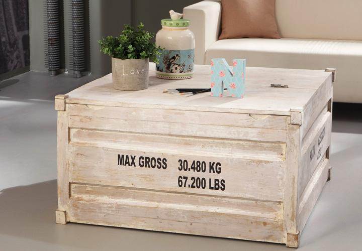 couchtisch 6907 container von wolf m bel in massivholz akazie antik weiss ebay. Black Bedroom Furniture Sets. Home Design Ideas