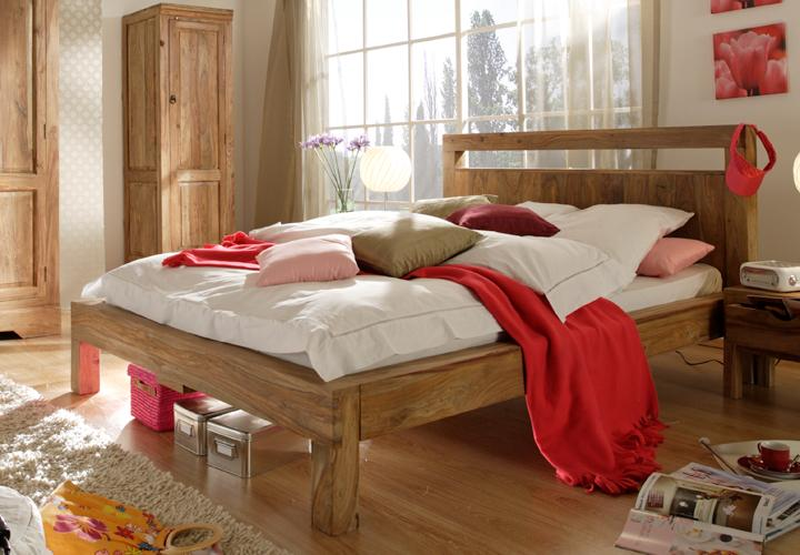 Bett yoga 180x200 sheesham natur massiv von wolf m bel for Schlafsofa yoga