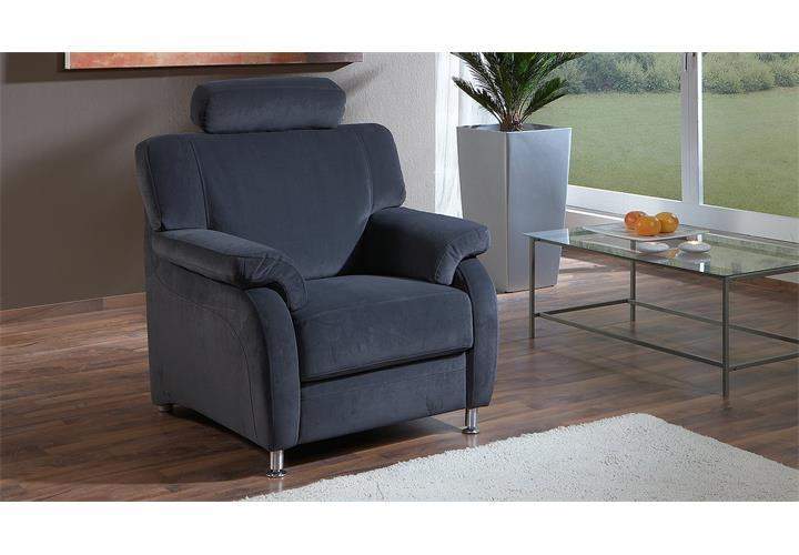 sessel toulouse stoff enoa blau mit kopfst tze ebay. Black Bedroom Furniture Sets. Home Design Ideas