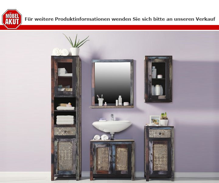 badezimmer goa set von wolf m bel in massivholz 5 teilig. Black Bedroom Furniture Sets. Home Design Ideas
