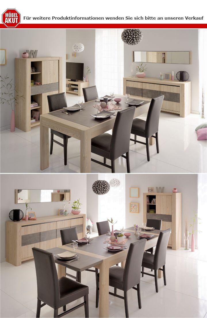tischverl ngerung 2er set chris in eiche und steinoptik. Black Bedroom Furniture Sets. Home Design Ideas