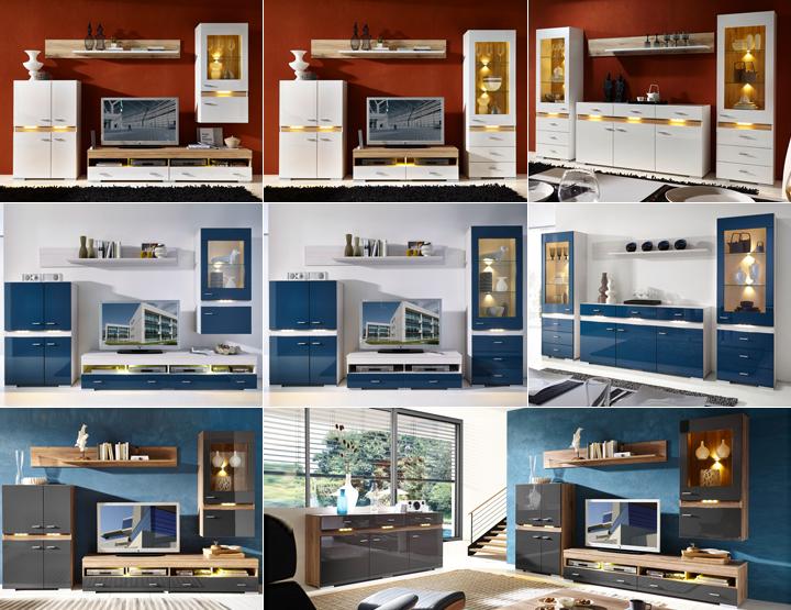 vitrine inside hochglanz wei inkl led. Black Bedroom Furniture Sets. Home Design Ideas